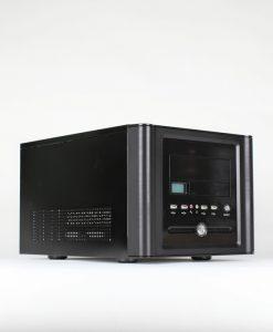 AvP E-CUTE Y907BK Black Cube Case Aluminium LCD Display