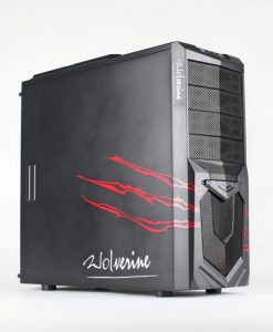 AvP Wolverine Red Midi Tower Inverted ATX  USB3.0 Red LED