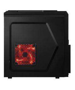 AvP Defender 200 K1 Mid Tower Black 2xRed LED/1xBlack Fan