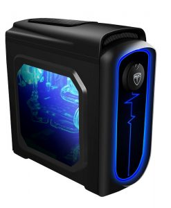 AvP Pulse Mini Tower Black Case USB 3.0  Blue LED light