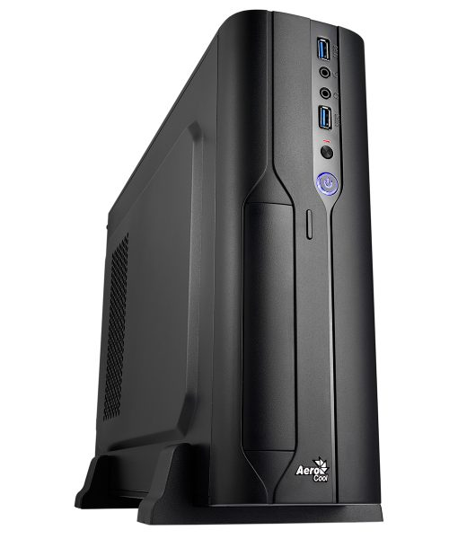 Aerocool CS-101 Slim Black Micro ATX / Desktop Case 2 x USB 3.0 Black Interior