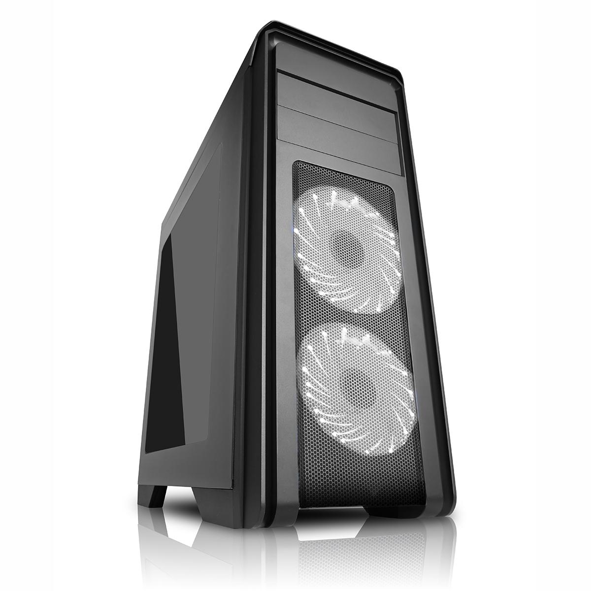 Game Max Falcon Pc Gaming Case Rgb Windowed Black Pc Case