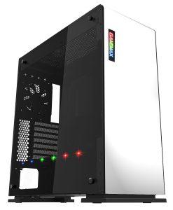 Game Max Vega PC Gaming Case White RGB Strip & PWM Controller Windowed