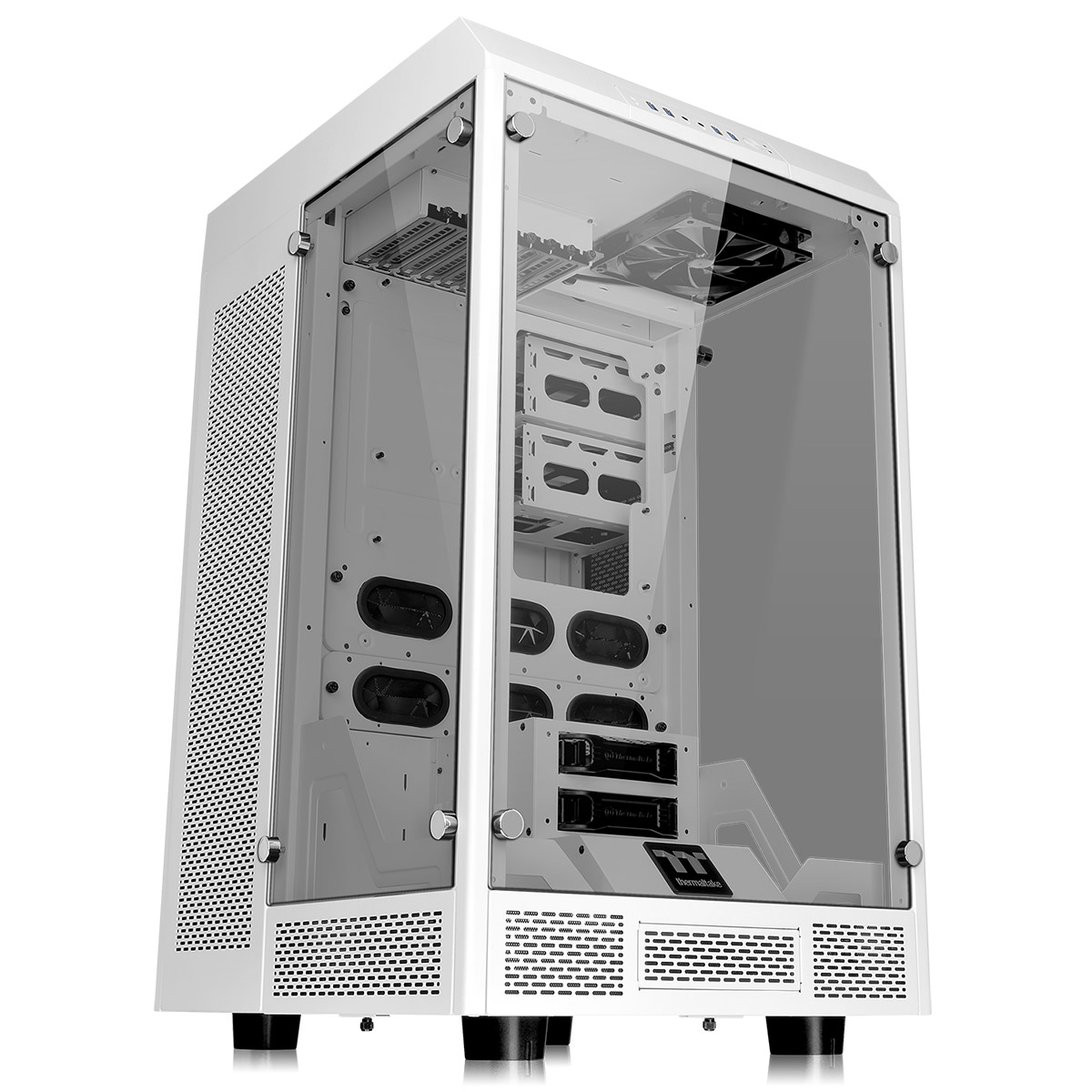 The Tower 900 Thermaltake White PC Case E-ATX Tempered Glass   Spot On  computer PC cases