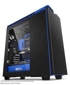 NZXT H440 Black/Blue PC Gaming Case - New Edition