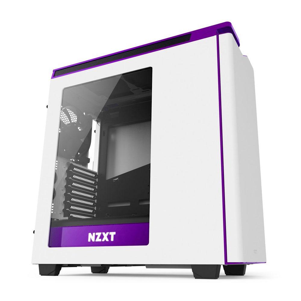 Nzxt H440 Pc Case New Edition White Purple Windowed Spot