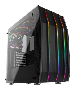 Aerocool Klaw Tempered Glass RGB Midi PC Gaming Case