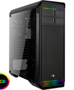 Aerocool Aero-500 Black RGB Gaming Case With Window Out on the 26th of Feb