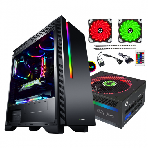 Bundle Deal - Game Max Chroma RGB Case + 850w RGB PSU + RGB LED Strips Kit