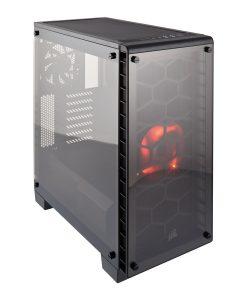 Corsair Crystal 460X Midi Tower Tempered Glass Case - Black (CC-9011099-WW)