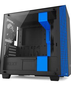 NZXT Blue H400 Micro ATX Windowed PC Gaming Case