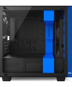 Nzxt Blue H400 Micro Atx Windowed Pc Gaming Case Spot On Computer