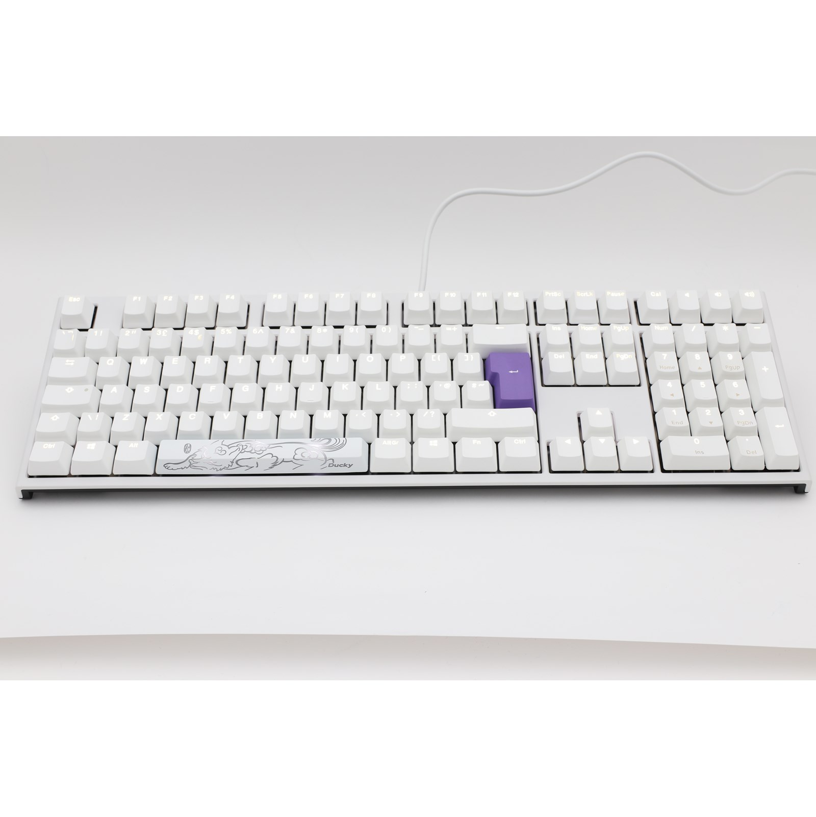 Ducky Channel One2 White Edition Gaming Keyboard Spot On