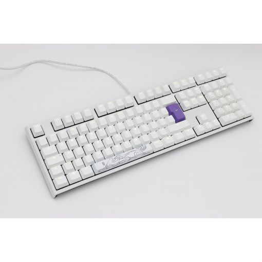 Ducky One2 White Edition Mechanical Keyboard Cherry MX Blue - White LED