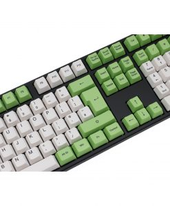Ducky One Mechanical Keyboard Cherry MX Red Switches - Green/White