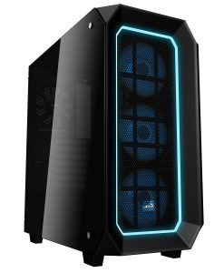 Aerocool P7C0 Black Pro16.8 Mil Colour RGB Fans & Hub Dual Tempered Glass Panels