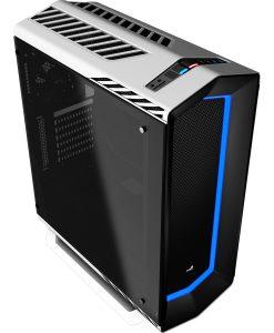 Aerocool P7C1 White Mid Tower PC Case RGB Tempered Glass