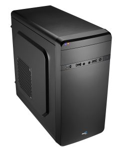 Aerocool QS180 Black Mini Tower Case Micro ATX With 1 x USB3 1 x USB2 HD Audio