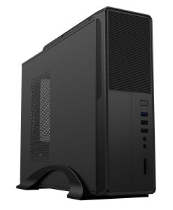 CiT S014B Black Slim Micro Case with 300w PSU