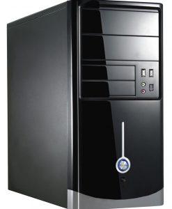1015BS Gloss Black/Silver Micro ATX Case 500W PSU