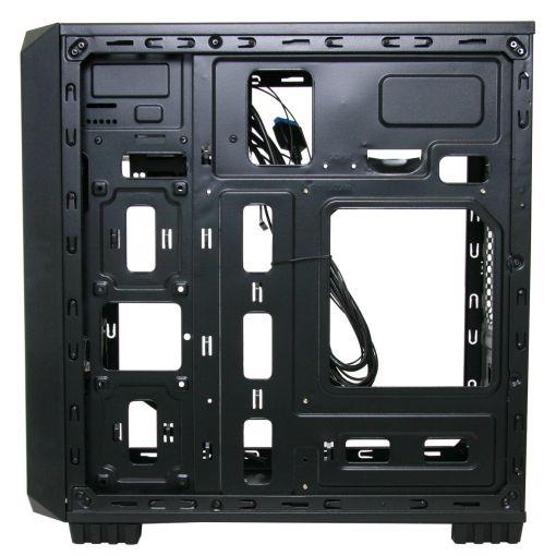 CiT Illusion Micro ATX PC Case Blue LED USB 3.0 Black