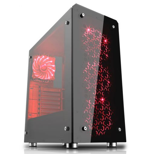 Game Max Sirius Black RGB Gaming Case Tempered Glass front & Side Panel