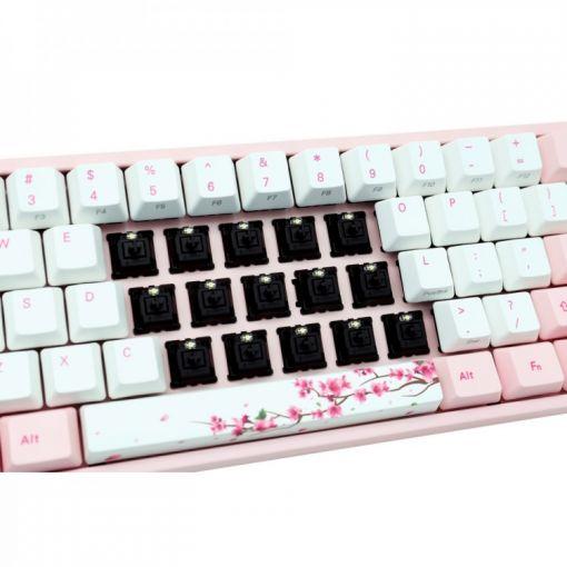 Ducky MIYA Pro Sakura Edition Black Cherry MX Switch 60% Mechanical Gaming Keyboard (UK Layout)