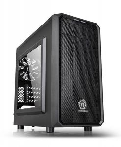 Thermaltake Versa H15 Compact micro-ATX Gaming Mini Tower PC Case with Window