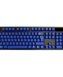 AvP ABS Double Shot UK Layout Keycaps Blue White Legends