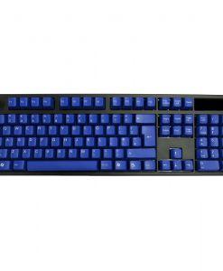 AvP ABS Double Shot UK Layout Keycaps Blue White Legends