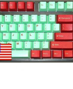 Tai-Hao ABS Double Shot Keycaps Juke Box Cubic Mint Red USA Layout