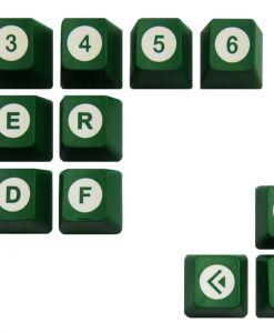 Tai-Hao Novelty Keycaps ABS Double Shot Poker 18 Key Set Green / White