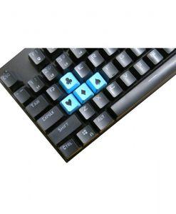 Tai-Hao Novelty Keycaps ABS Double Shot Poker 4 Key Set Blue/Black