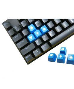 Tai-Hao Novelty Keycaps ABS Double Shot Poker 4 Key Set Blue/White