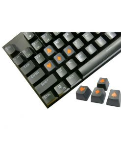 Tai-Hao Novelty Keycaps ABS Double Shot Poker 4 Key Set Graphite/Orange