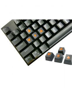 Tai-Hao Novelty Keycaps ABS Double Shot Poker 4 Key Set Graphite/Orange