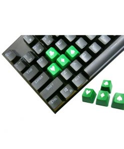 Tai-Hao Novelty Keycaps ABS Double Shot Poker 4 Key Set Green/White