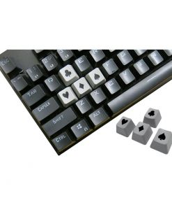 Tai-Hao Novelty Keycaps ABS Double Shot Poker 4 Key Set Grey/Black