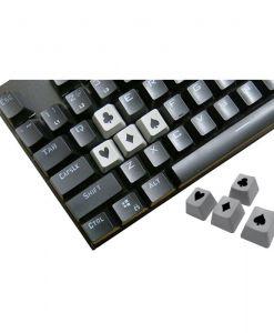 Tai-Hao Novelty Keycaps ABS Double Shot Poker 4 Key Set Grey/Black