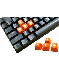 Tai-Hao Novelty Keycaps ABS Double Shot Poker 4 Key Set Orange/White