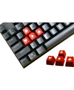 Tai-Hao Novelty Keycaps ABS Double Shot Poker 4 Key Set Red/White