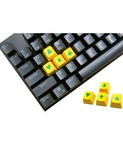 Tai-Hao Novelty Keycaps ABS Double Shot Poker 4 Key Set Yellow/Green