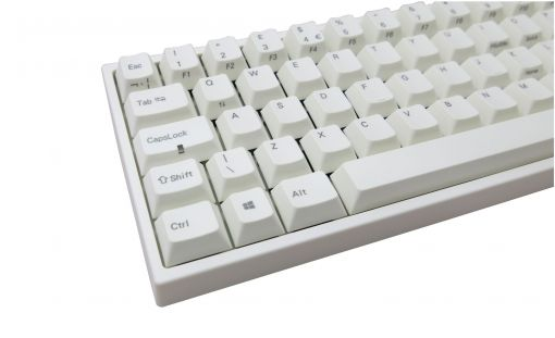 Mechanical Keyboard MX Red Leopold FC660M White Case 60% Double Shot PBT