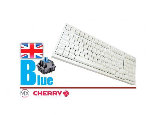 Leopold FC980M White Case Laser Printed PBT Mechanical Keyboard MX Blue