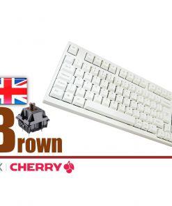 Leopold FC980M White Case Laser Printed PBT Mechanical Keyboard MX Brown
