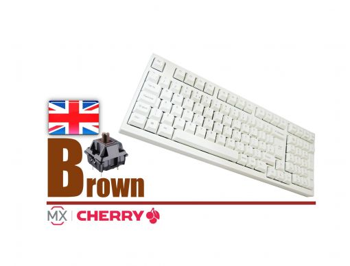 Leopold FC980M White Case Laser Printed PBT Mechanical Keyboard MX Brown