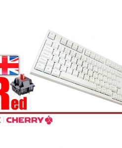 Leopold FC980M White Case Laser Printed PBT Mechanical Keyboard MX Red
