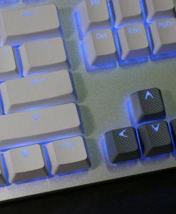 Tai-Hao TPR Rubber Keycaps Double Shot 18 Keys - Grey