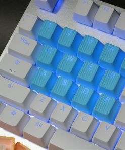 Tai-Hao TPR Rubber Backlit Double Shot 18 Keys - Neon Blue