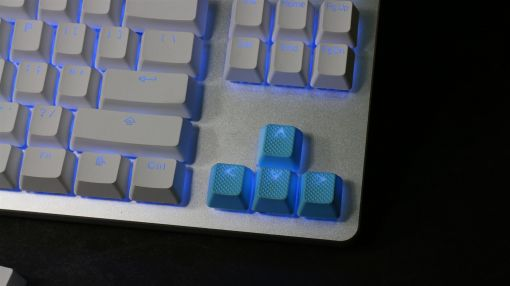 Tai-Hao TPR Rubber Backlit Double Shot 18 Keys - Neon Blue